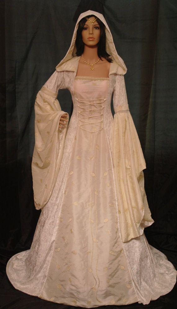 Medieval Dress Renaissance Wedding Handfasting Dress Pagan Dress ...