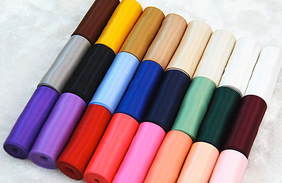 "Mariage - 3 Yard Single Face Satin Polyester Ribbon,Satin Sash,Wedding, Bridal, Crafts, DIY bridal - 1.5"" width- Any colour"