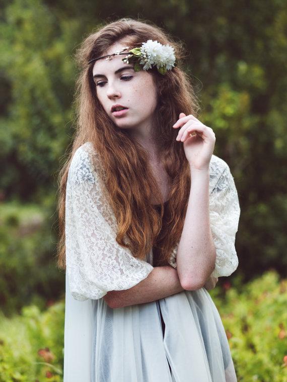 Mariage - Bridal headpiece, Flower crown, Woodland wedding accessory, bridal hair crown