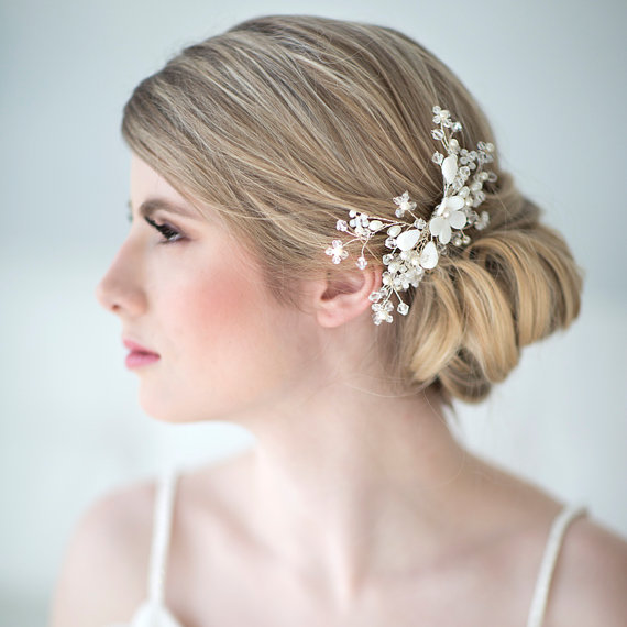 Boda - Bridal Hair Comb, Beach Wedding Hair Accessory, Crystal Hair Comb, Wedding Head Piece