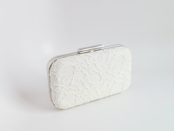 Mariage - ivory lace clutch, lace clutch, formal clutch, wedding clutch, bridal clutch, ivory bridal, bridesmaids clutch, wedding lace, ivory weddings