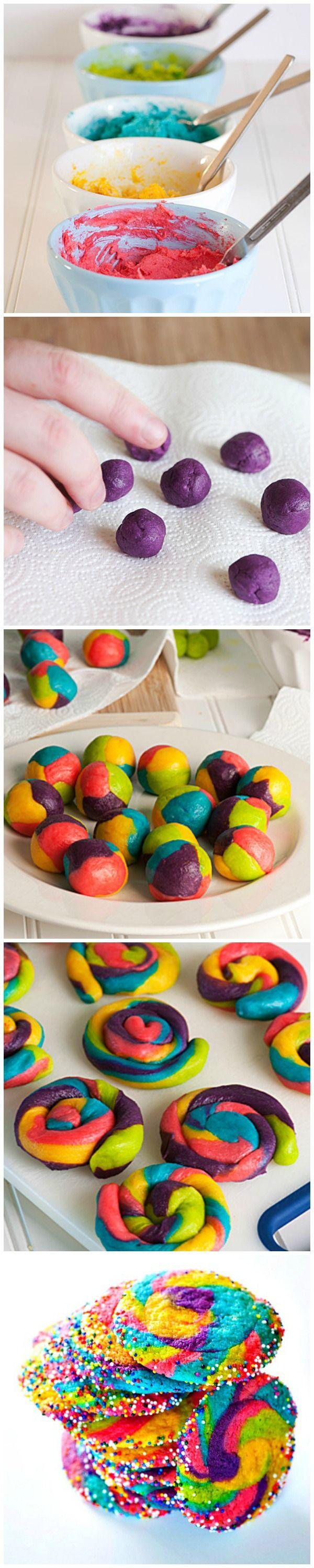 rainbow pinwheel cookies rainbow pinwheel cookies the super easy ...