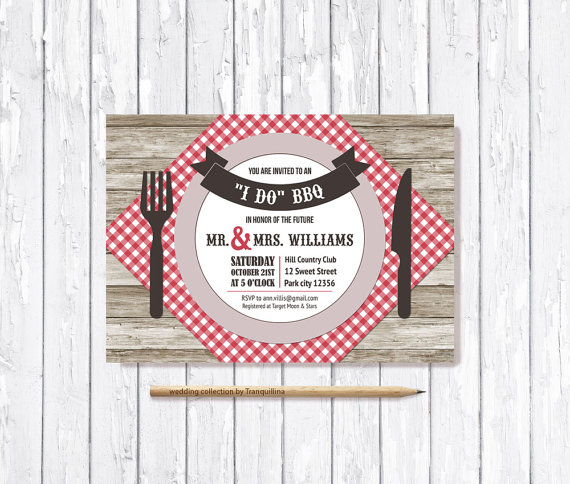 i do bbq invitation printable digital file engagement party