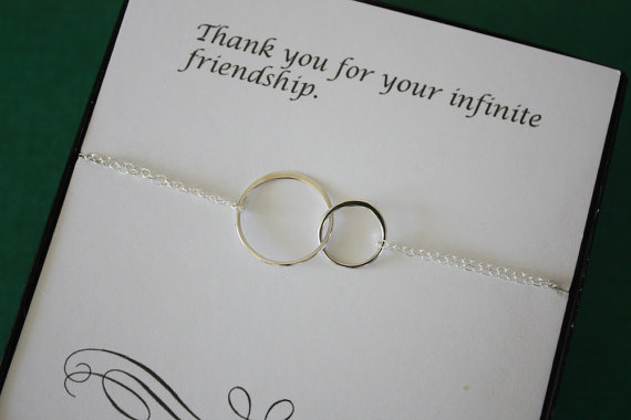 Silver Wedding Gifts For Friends : ... friend gifts thank you card sterling silver bracelet your best friends