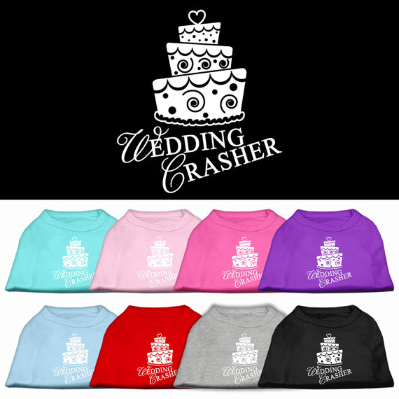 Свадьба - Wedding Crasher Sleeveless T-Shirts for Dogs or Cats