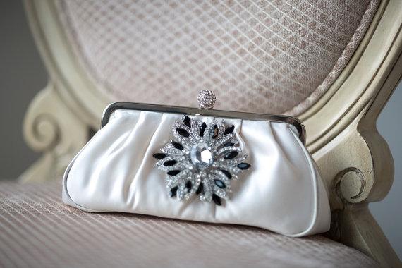 Wedding - Bridal Purse, Champagne Bridal Handbag, Wedding purse, Bridal Clutch