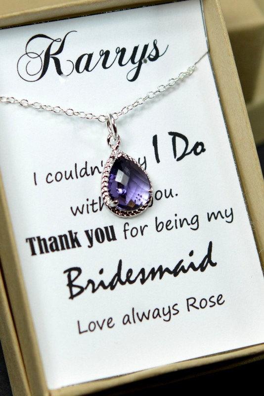 زفاف - Bridesmaid Wedding Bridal Jewelry Bridesmaid Jewelry-Bridesmaid gifts, purple amethyst, peacock wedding jewelry ,drop dangle necklace