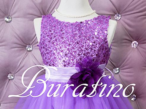 زفاف - Flower Girl  Dress Lilac Purple, Red, Silver, Gold, Fuchsia, Sequin  Flower Girl Toddler Special Occasion Wedding Dress(ets0155lc)