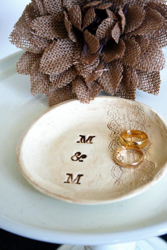 wedding ring dish rustic wedding ring holder something old ring bearer dish personalized ring bearer holder