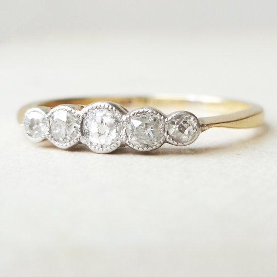 five antique ring stone at engagement rings victorian diamond circa