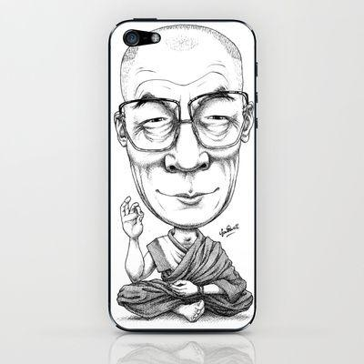 Hochzeit - HRH Dalai Lama IPhone & IPod Skin By Gareth Southwell