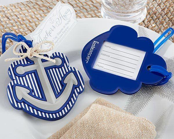 Wedding - Anchors Away Luggage Tag Favor