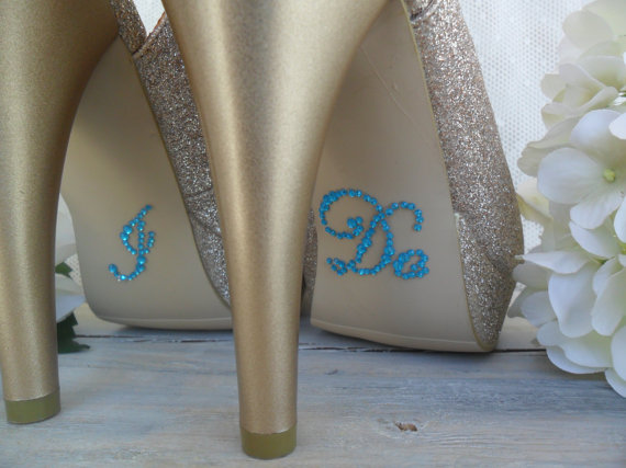 size 40 bfa9e 49a94 SOMETHING BLUE, Bridal Shoe Stickers, I DO Shoe Stickers ...