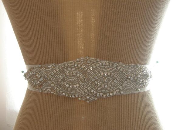 Mariage - SALE / Wedding Belt, Bridal Belt, Bridesmaid Belt, Sash Belt, Wedding Sash, Bridal Sash, Belt, Crystal Rhinestone