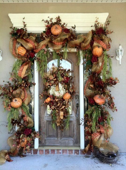 زفاف - Pumpkins-wreath-for-fall