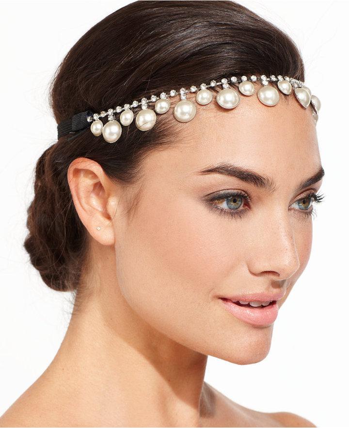 Wedding - Josette Pearl and Rhinestone Headpiece