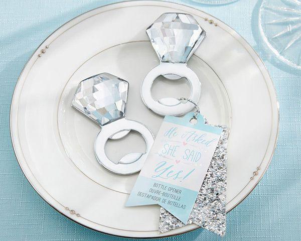 Wedding - Engagement Ring Bottle Opener Favor