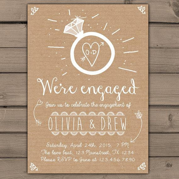 rustic engagement party invitations anuvratinfo – Photo Engagement Party Invitations