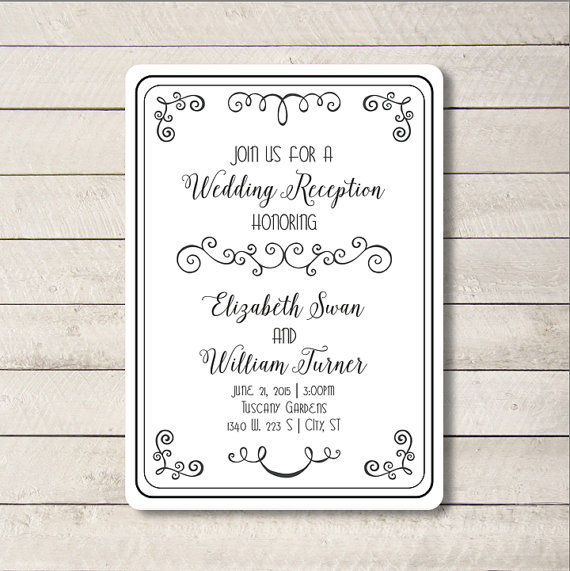 Wedding Invitation Font Combinations for good invitation layout