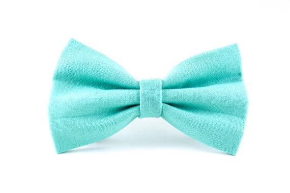 Свадьба - Robins Egg Blue Dog Bow Tie - Detachable Turquoise Aqua Blue Dog Collar Bow Tie