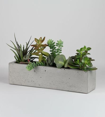 Свадьба - Concrete Windowsill Planter