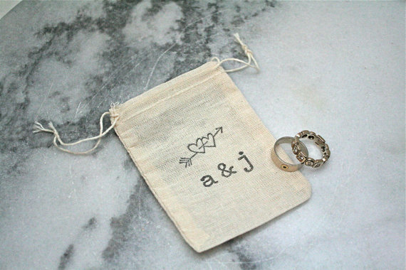 Personalized Wedding Ring Bag Ring Pillow Alternative Ring Bearer