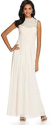 Wedding - Hailey by Adrianna Papell Bead-Embellished Chiffon Gown