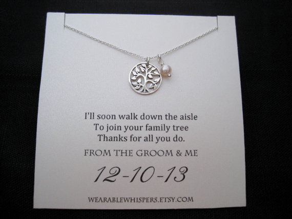 Mother Of The Groom Necklace - Mother Of The Groom Gifts - Family ...