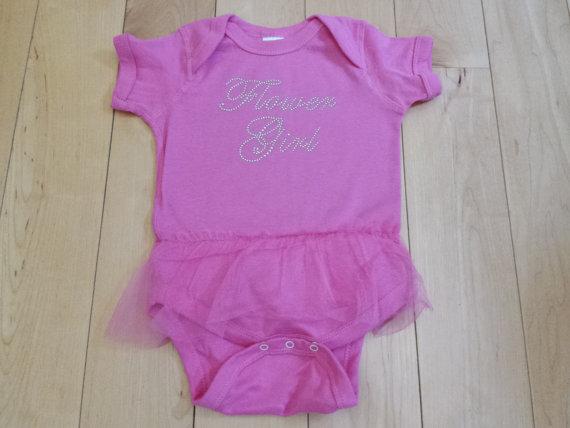 Свадьба - Flower Girl Tutu Onesie . Infant Flower Girl Shirt . Custom Flower Girl Onesie. Flower Girl gift