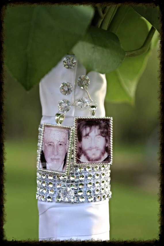 Свадьба - 2 Wedding Bouquet charm kit -Photo Pendants charms for family photo (includes everything you need including instructions)