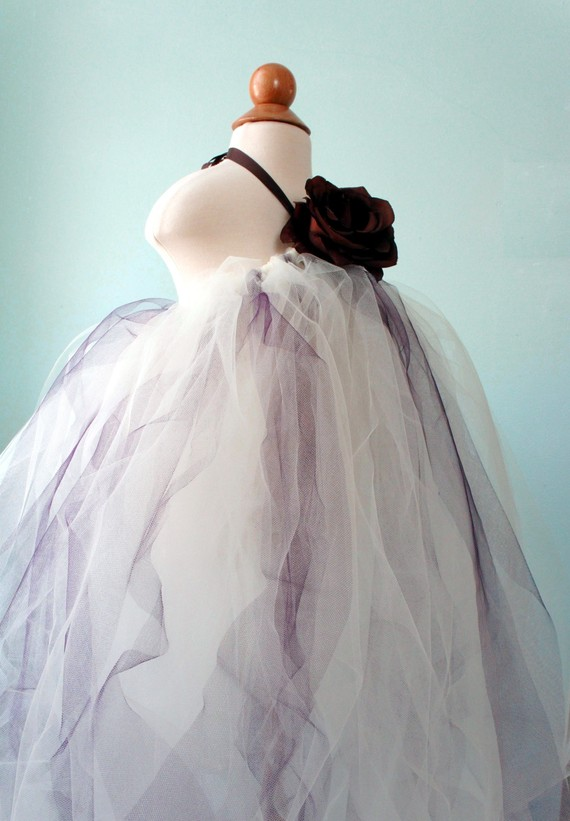 Mariage - Flower Girl Dress, Girl Tutu Dress, Photo Prop, Girls Dress, Ivory Dress