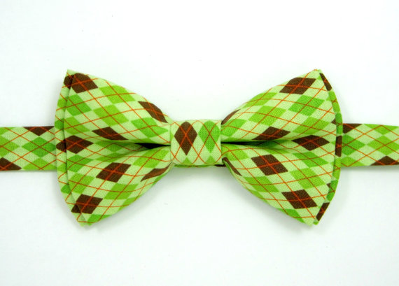 زفاف - Baby bow tie,Boys bow tie Men bow tie,Argyle bow tie,Ring bearer bow tie,Wedding bow tie,Pre-Tied Bow tie,Green bow tie, bow tie