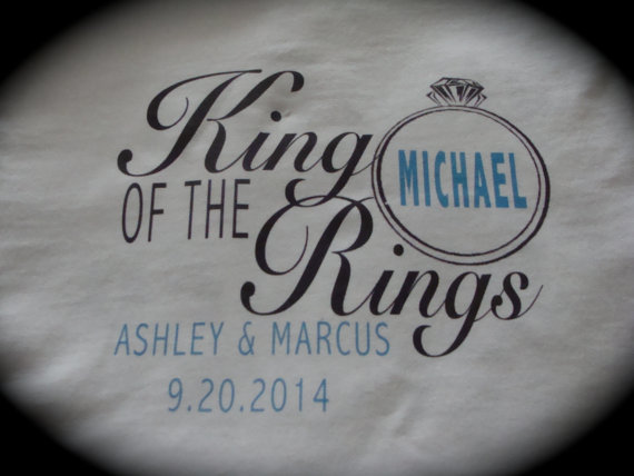 زفاف - KING of the RINGS ring bearer t-shirt or onesie wedding getting married bride groom