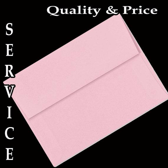 زفاف - 25 Pastel Baby Pink Envelopes for Invitations Announcement Shower Communion Wedding Christening Birth Confirmation Thanks Enclosure Response
