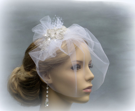 Birdcage Veil, Wedding Hair Accessories, Wedding Bridal