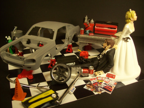 Classic Car Restoration Professional Hobbyist Funny Wedding Cake ...