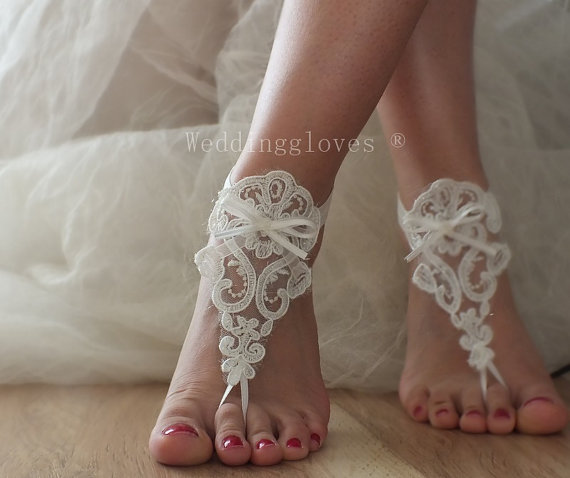 Bridal Barefoot Sandals Ivory Barefoot SandalsBridal Foot Jewelry