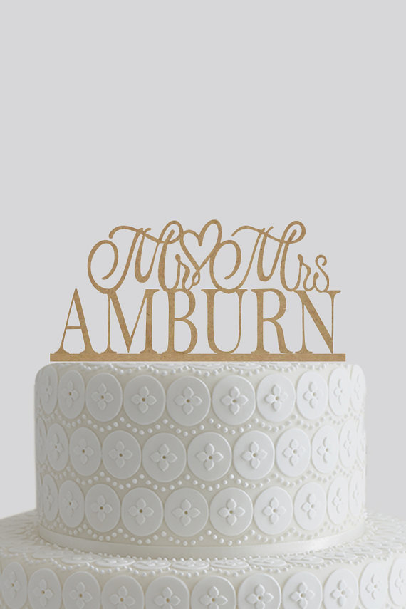 Mariage - Rustic Wedding Cake Topper - Mr and Mrs Cake Topper, Wedding Cake Decor, Custom Cake Topper