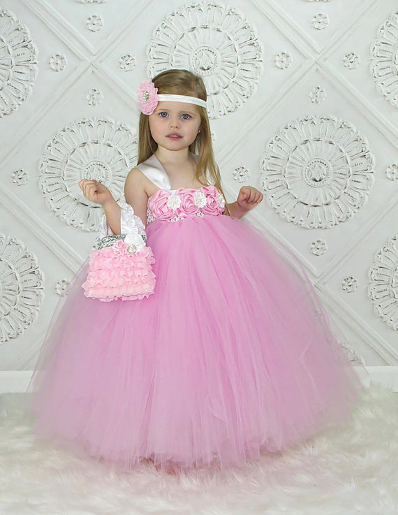 db1bf44b4 Flower Girl Dress, Pink And White Tutu Dress #2278682 - Weddbook