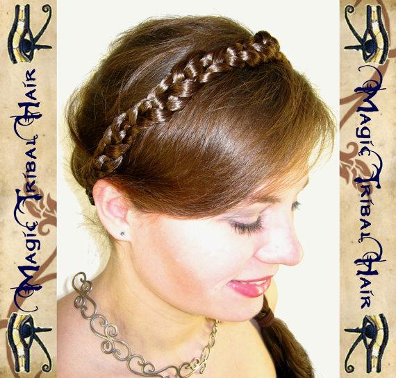 Свадьба - Princess HAIRBAND headband tiara WEDDING CROWN diadem C U S T O M  C O L O R Steampunk Renaissance Tribal Fusion Belly Dance Hair Piece