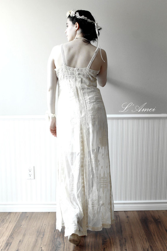 Embroidered sexy boho wedding dress bridal gown suitable for Dresses suitable for a wedding
