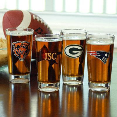 زفاف - Personalized Initial NFL Pint Sized Beer Glass Groomsmen Gift Ideas