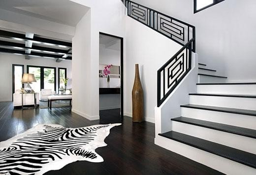 Boda - LIFE STYLE (TM) Genuine Black and White Cowhide Zebra Brazilian Hair Leather Rug