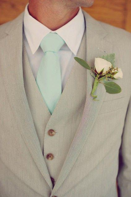 Wedding - Ties To Match J. Crew Color Fresh Mint - JCrew Fresh Mint Groosmen Neckties