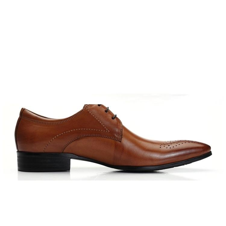 Mariage - LIFE STYLE Mens Italian Tan Brown Leather Oxford Shoes