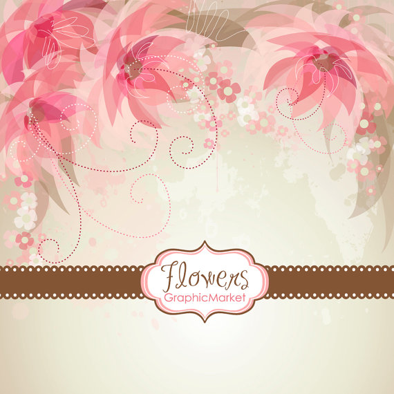 Flower Designs And Floral Card Templates Clipart For - Small invitation cards templates