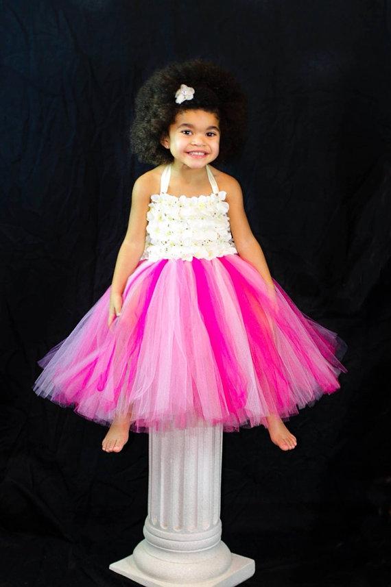 Wedding - Birthday Tutu, Girls Tutu, Baby Tutu, Toddler Tutu, Flower Girls Dress, Pink Tutu, Birthday Costume, Tutu, Tutu Dress, Tutus