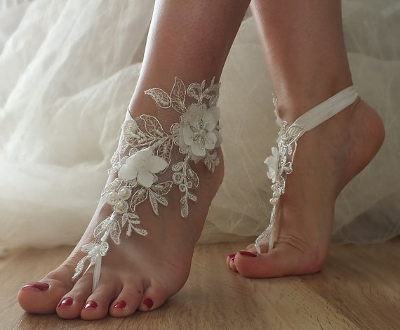 SANDALS Beach Shoesbridal Sandals Lariat Wedding Bridal Bellydance Gothic Shoes Summer Wear Handmade