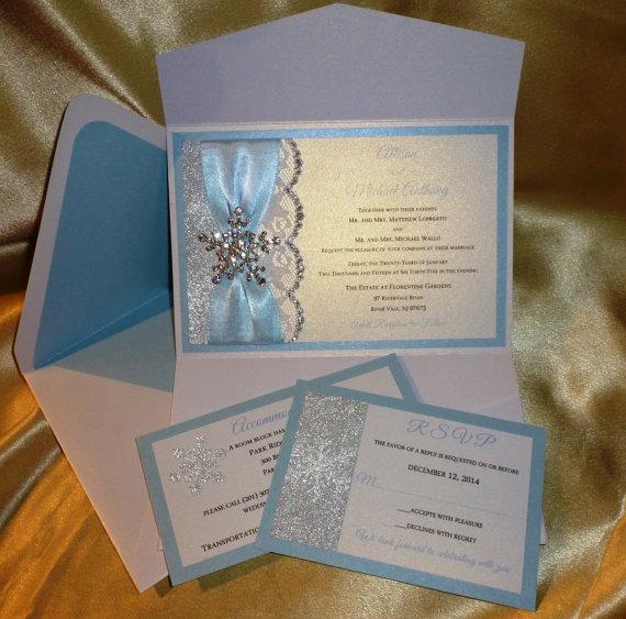 """Hochzeit - Winter Wedding Invitation (sample) -""""  Winter Frost"""""""