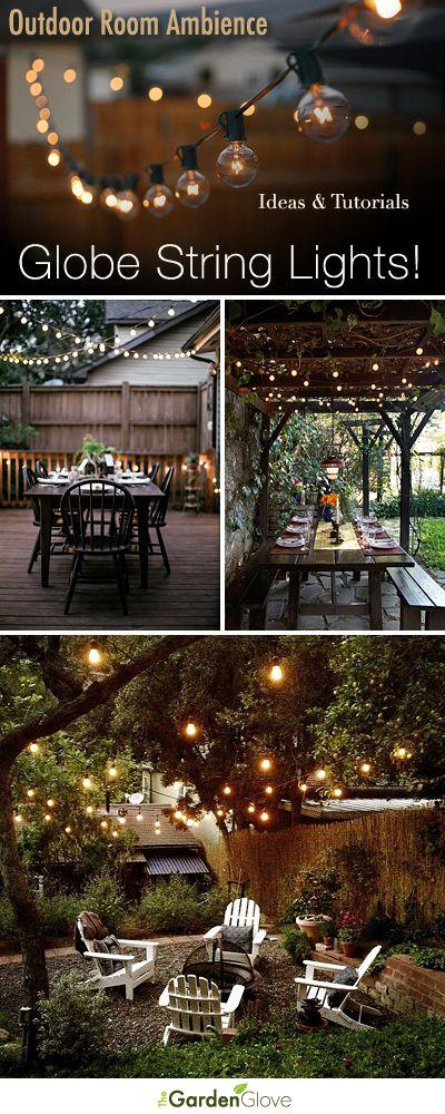 Свадьба - Outdoor Room Ambience: Globe String Lights!